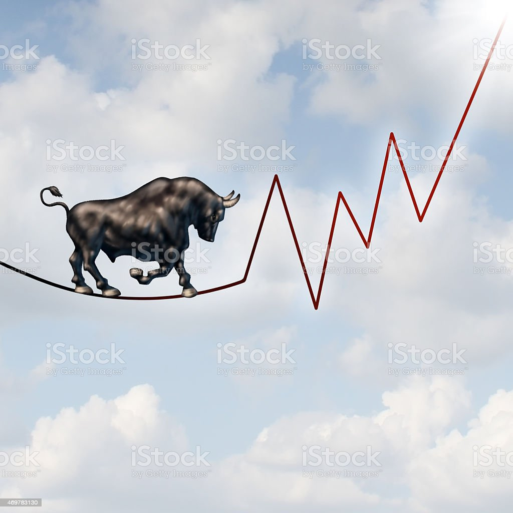 Bull Market Risk stock photo