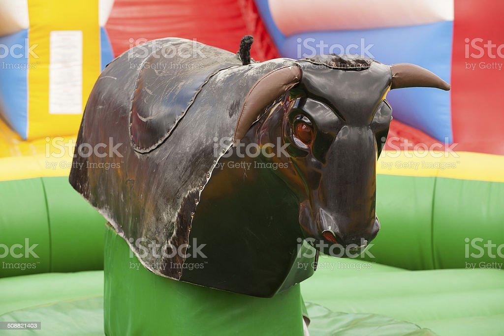 bull ride stock photo