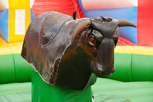 bull ride stock photo