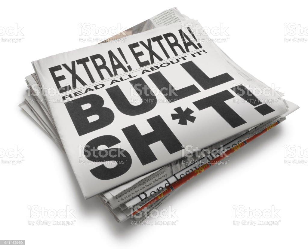 Bull Sh*t Newspaper Headline - foto stock