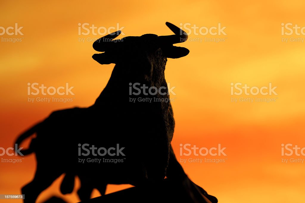 Bull sihouette royalty-free stock photo
