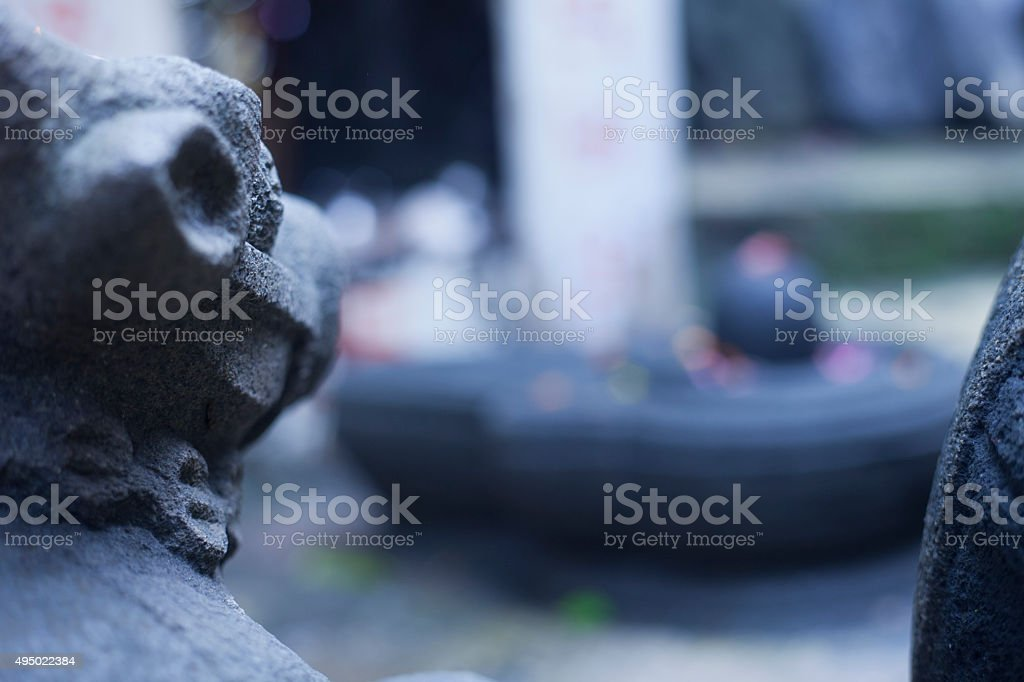 Bull worshipped as Nandi Shiva stock photo