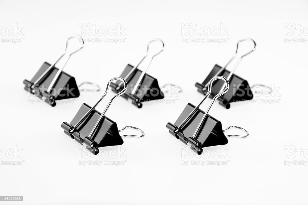 bulldog paper clip royalty-free stock photo
