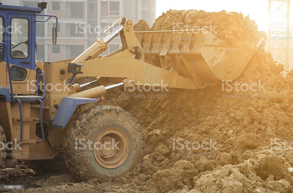 bulldozer in Arbeit – Foto