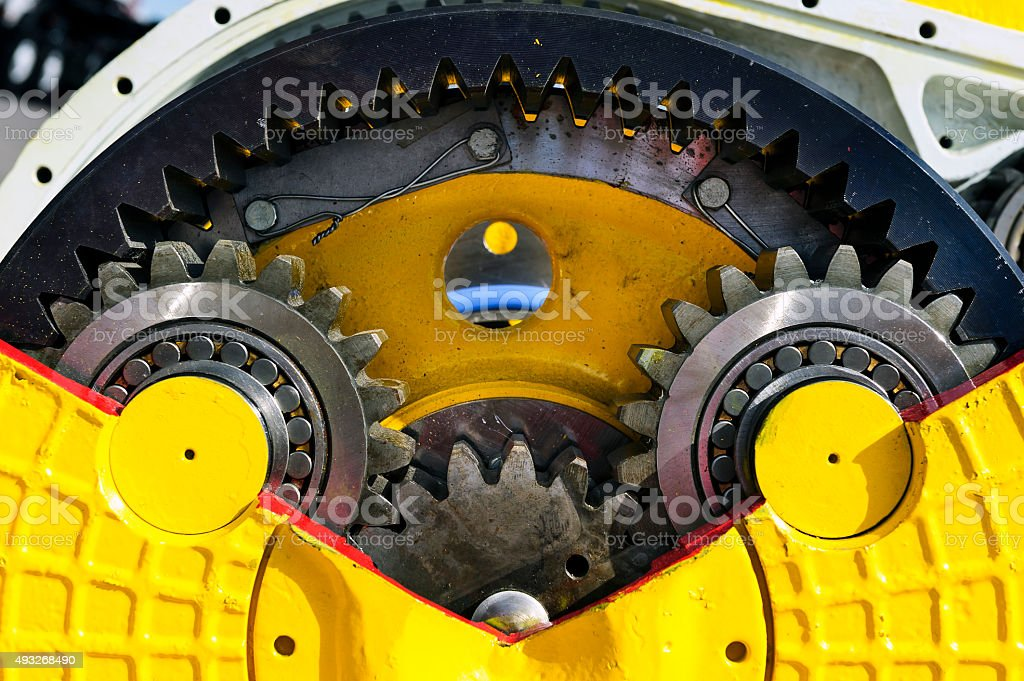 Bulldozer Montagekoppler Mechanismus – Foto