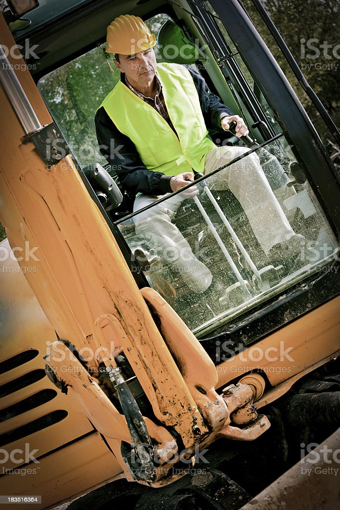 Bulldozer driver royalty-free stock photo