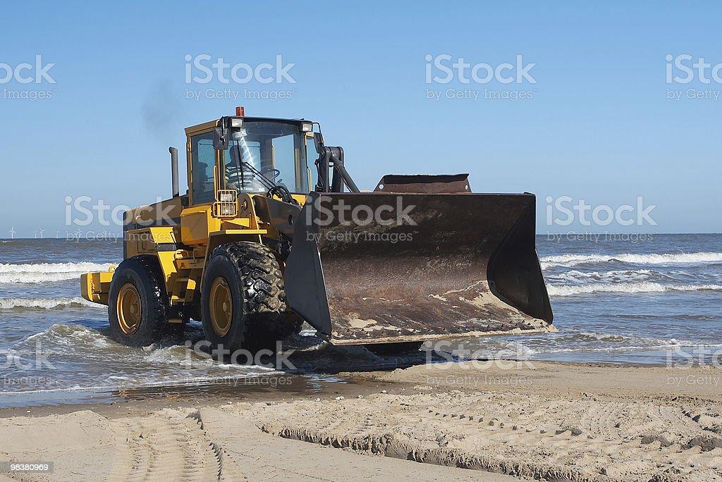 Bulldozer from sea royalty-free stock photo