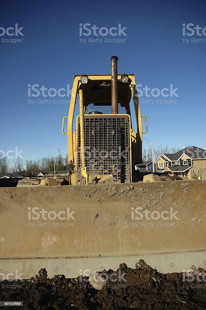Bulldozer - Frontal Portrait royalty-free stock photo