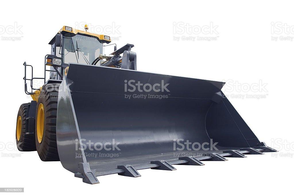 Bulldozer, isoliert auf weiss – Foto