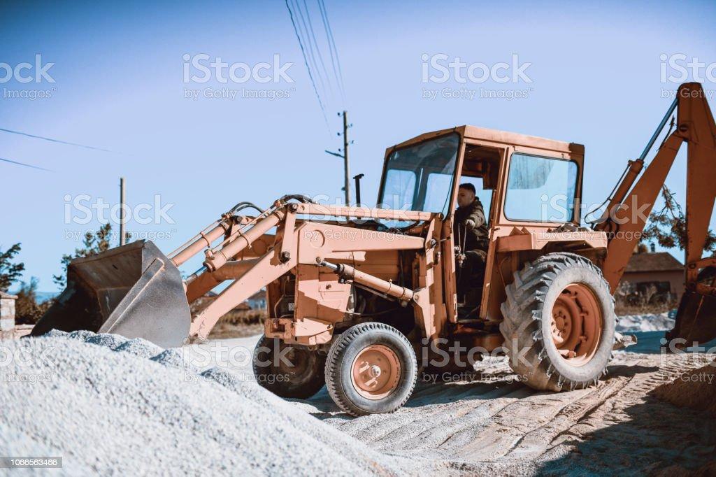 Bulldozer Lessons stock photo