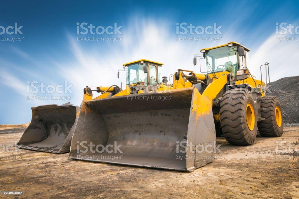 bulldozer auf einer Baustelle – Foto