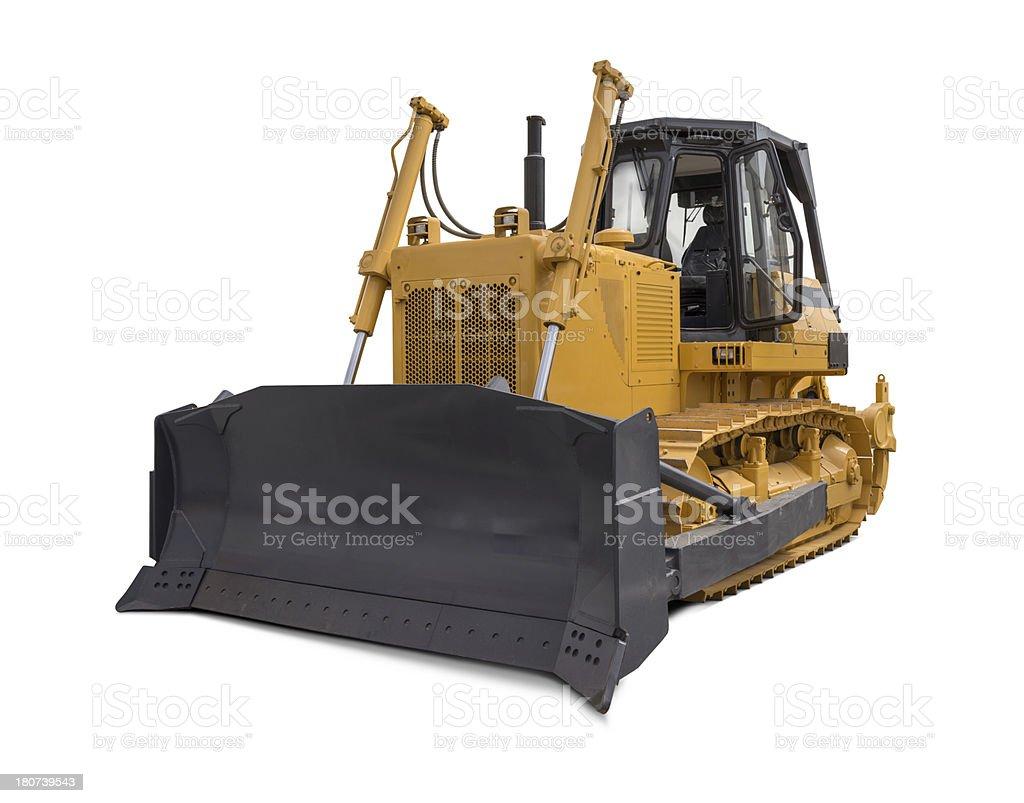 "Bulldozer ""New and yellow bulldozer, isolated on white background."" Bulldozer Stock Photo"