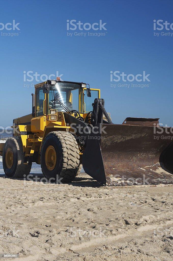 Bulldozer portret royalty-free stock photo