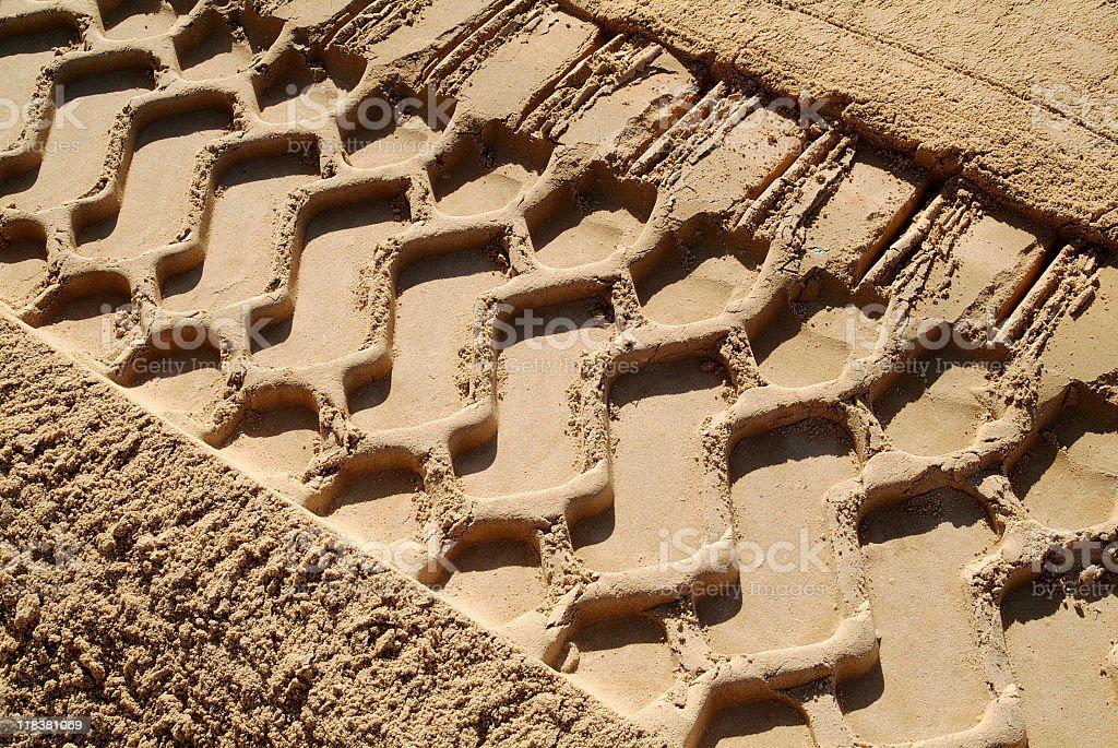 Bulldozer Tracks royalty-free stock photo