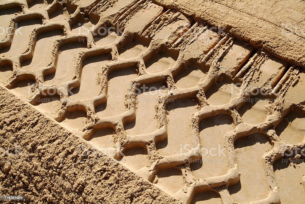 Bulldozer Tracks stock photo