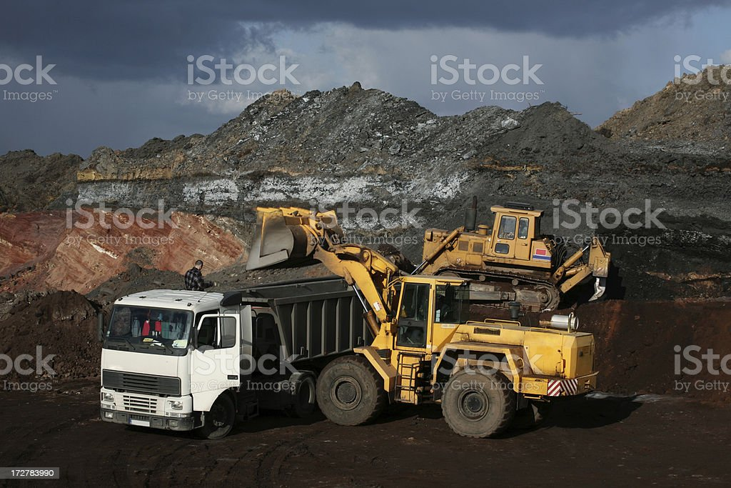 Bulldozers royalty-free stock photo