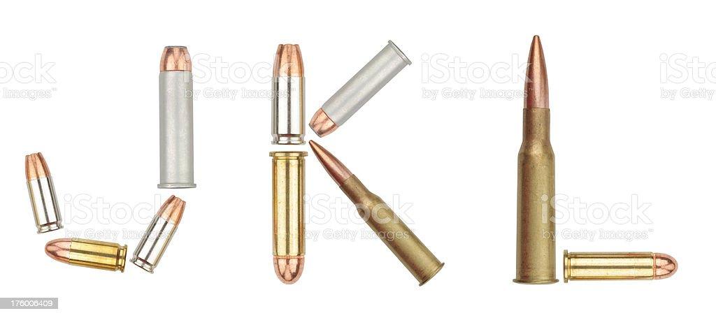 bullet alphabet JKL royalty-free stock photo