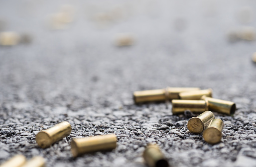 Bullet casings on the street