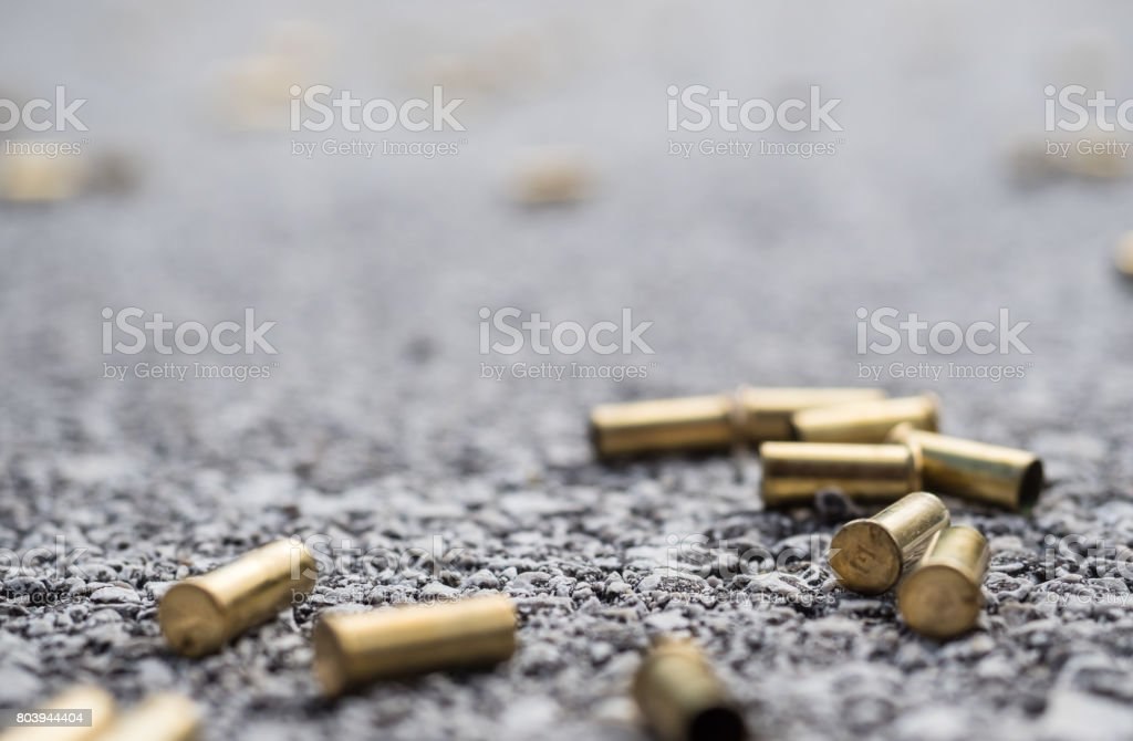 Bullet casings stock photo