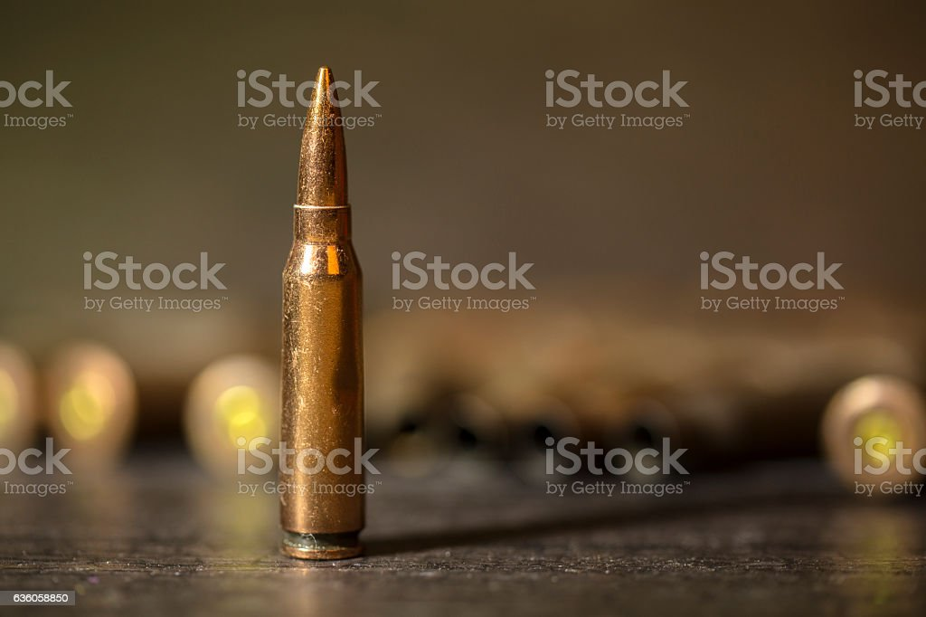 bullet, close up stock photo