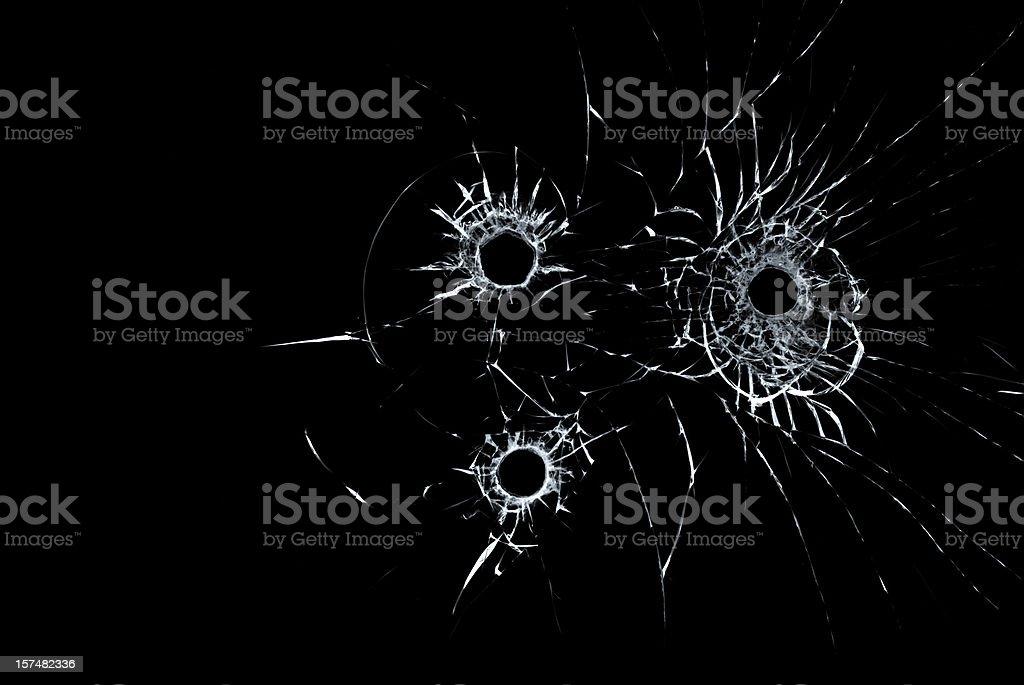 bullet hole stock photo