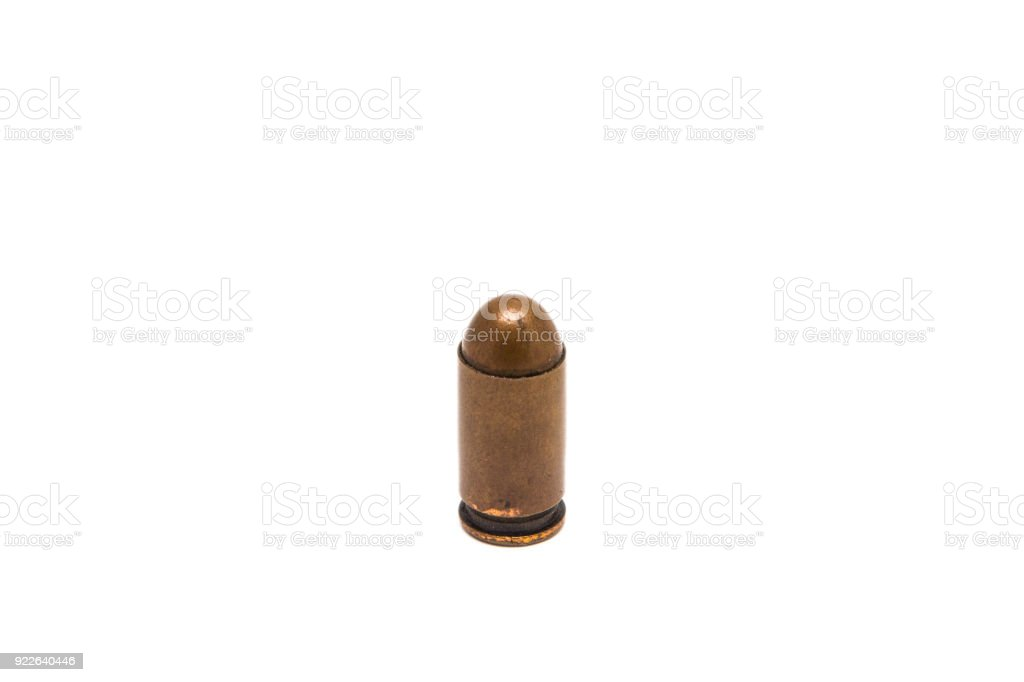 Bullet isolated on white stock photo