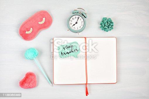 istock Bullet journal for sleep tracker 1138385369