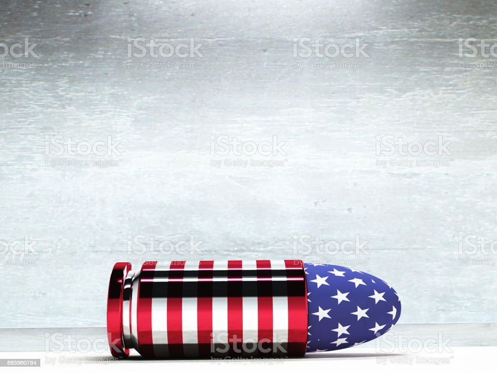 USA Bullet stock photo
