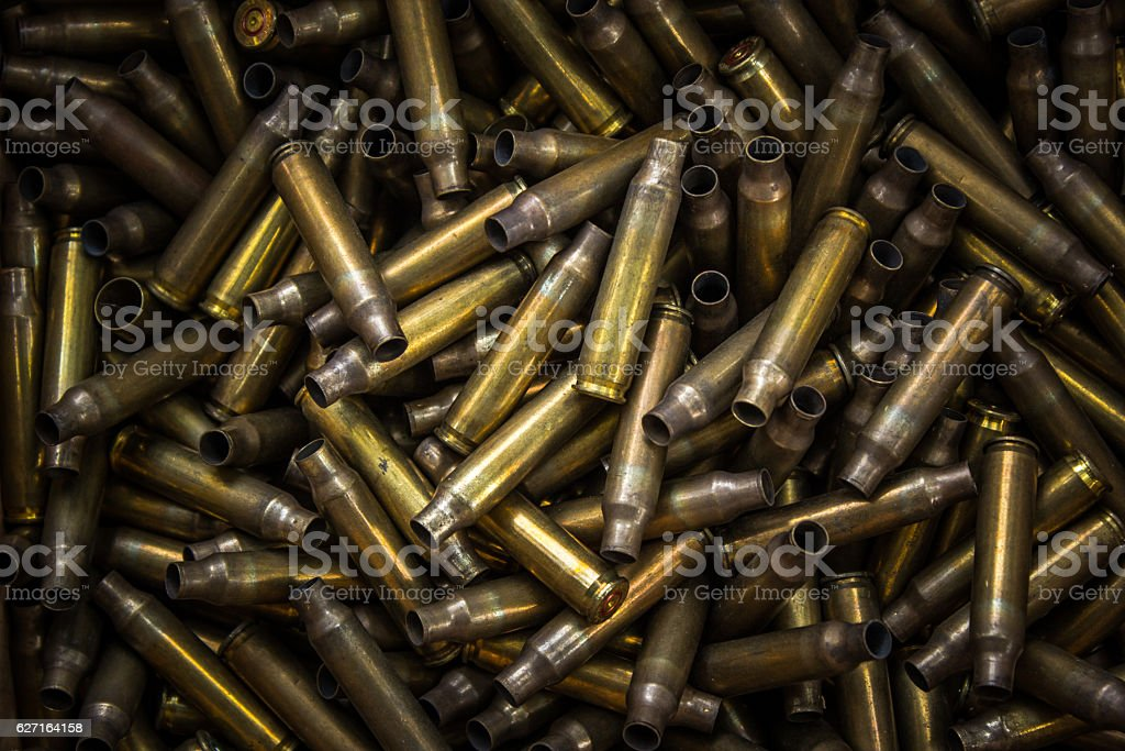 bullet shell stock photo