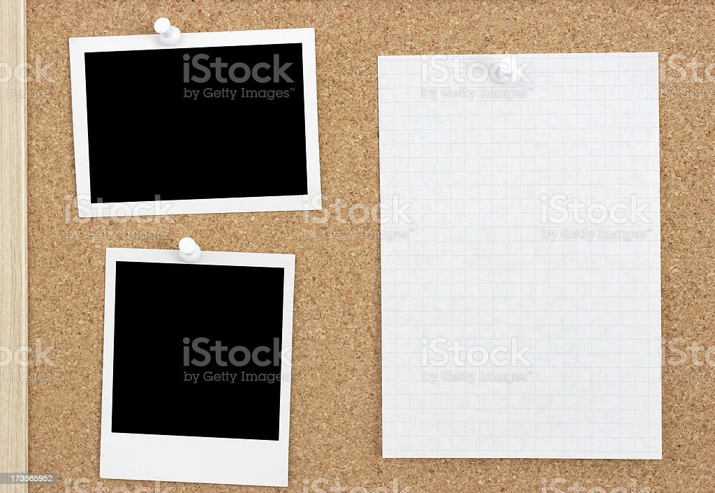 Bulletin Board Photos royalty-free stock photo