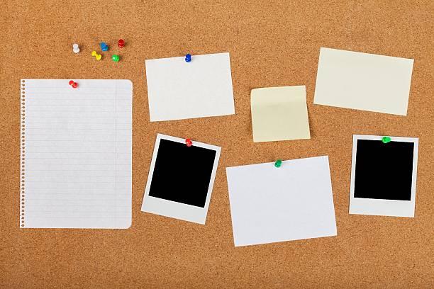 tableau d'affichage  - épingler photos et images de collection