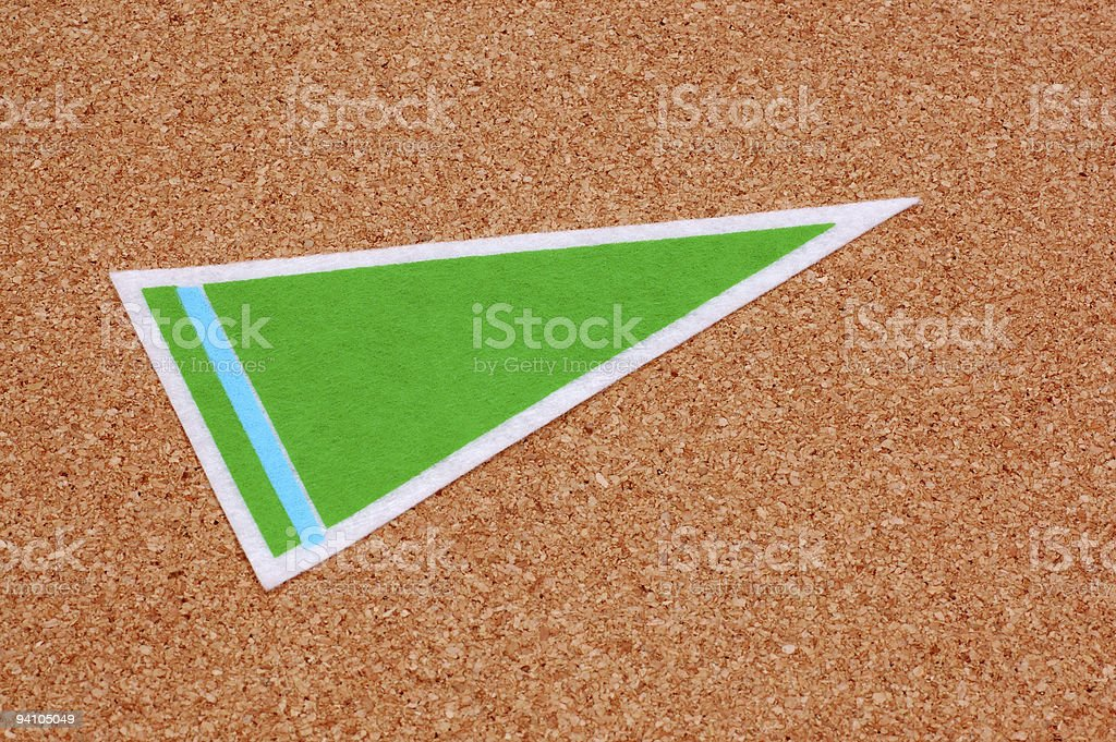 Bulletin Board with Blank Pennant royalty-free stock photo