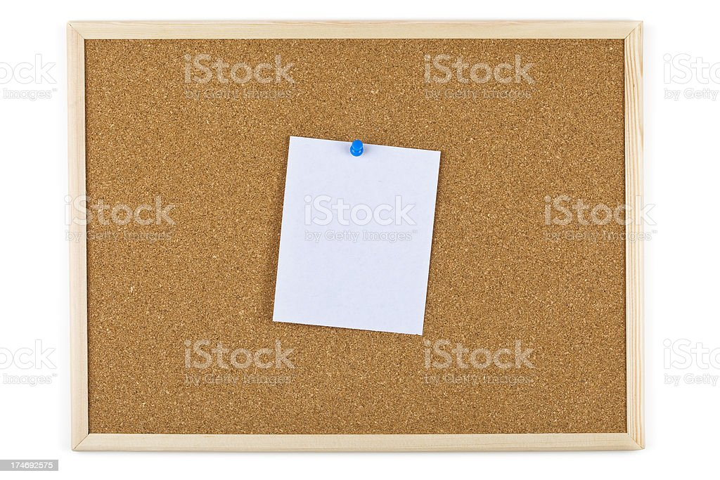 XXXL Bulleting board with a blank note royalty-free stock photo