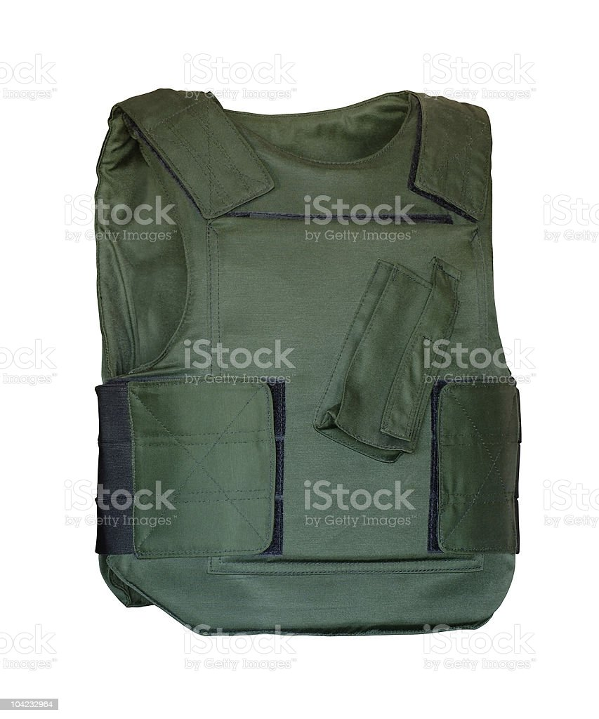 Bulletproof armor stock photo
