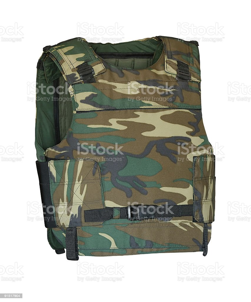 Bulletproof jacket stock photo