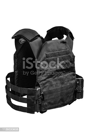 bulletproof vest isolated on white background