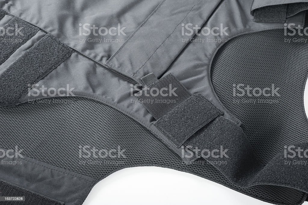 Bulletproof vest isolated stock photo