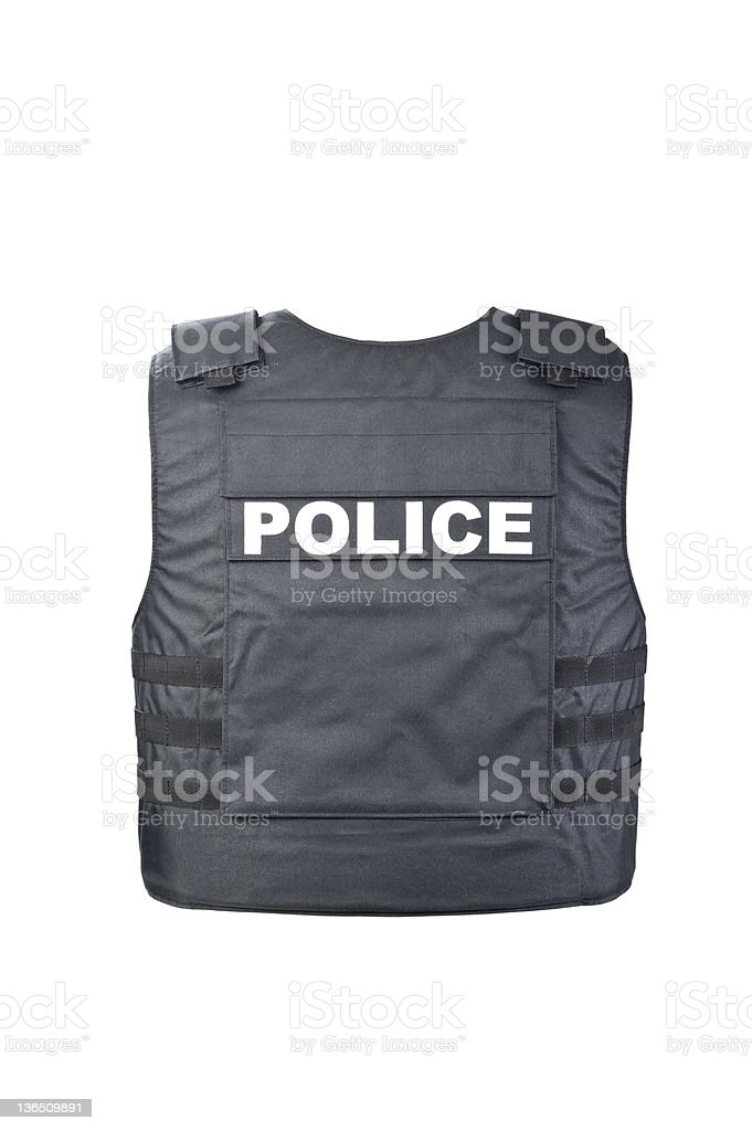 Bulletproof vest stock photo