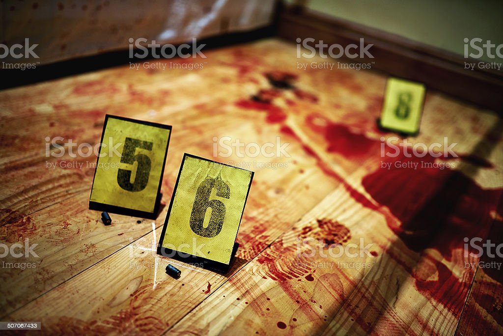 Bullets and blood royalty-free stock photo