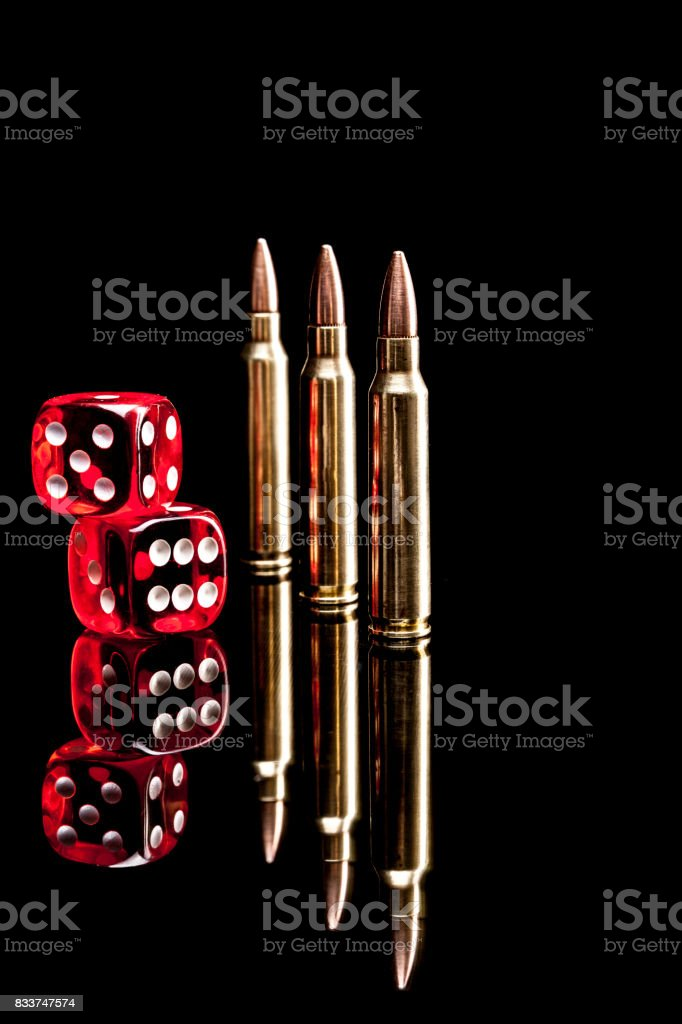 Bullets and Dices stock photo