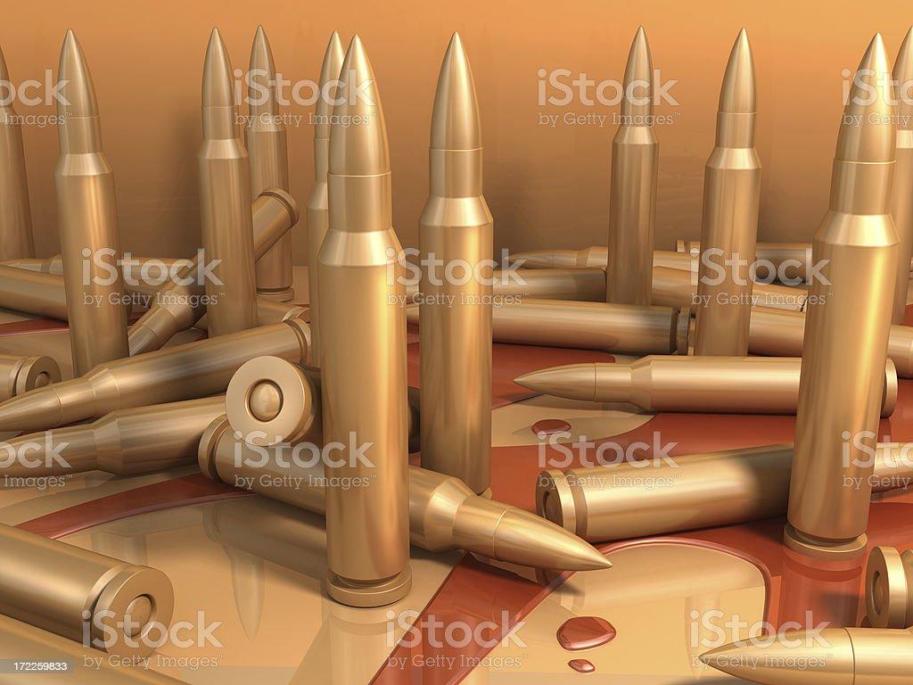 bullets & blood stock photo