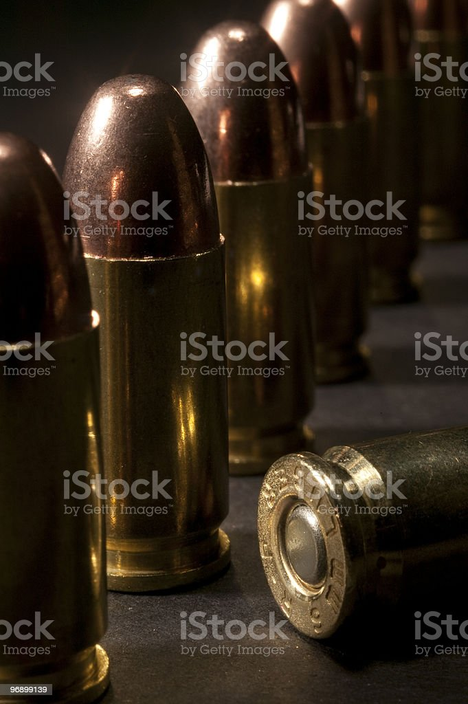Bullets in a line royalty-free stock photo