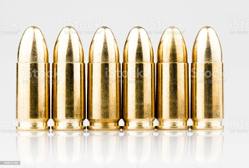Bullets in line royalty-free stock photo