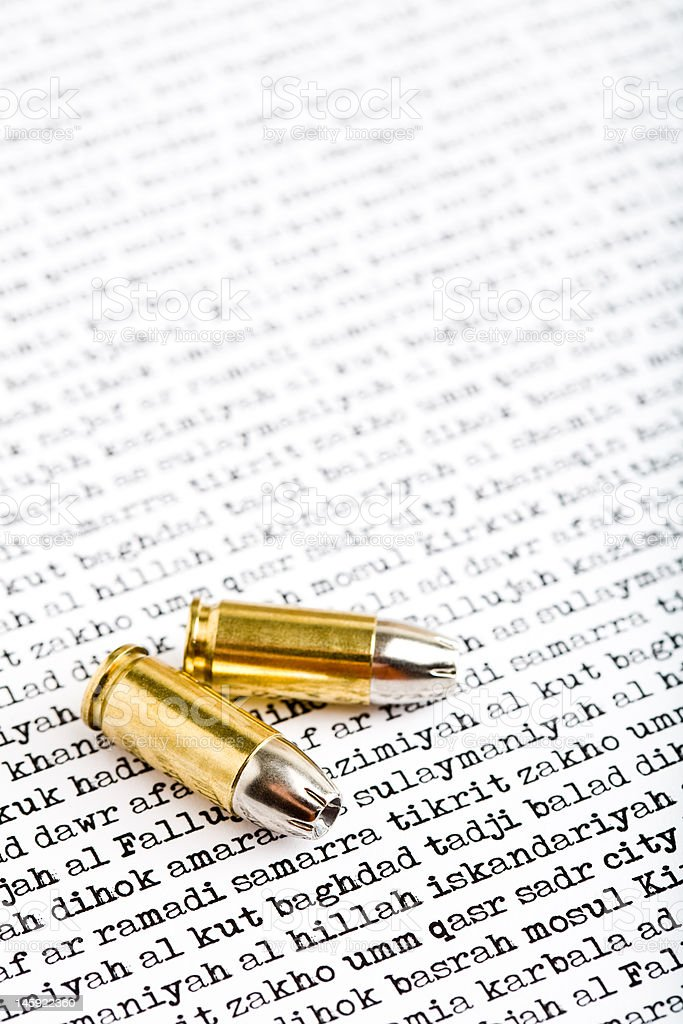 bullets over iraq stock photo
