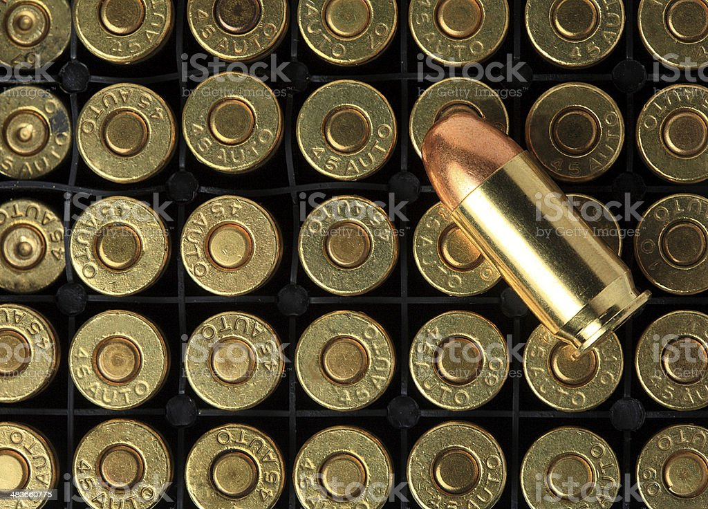 Bullets pattern stock photo
