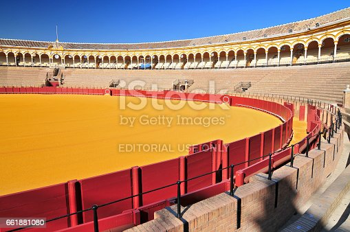 istock Bullfight arena (Plaza de Toros) in Seville, Andalusia Spain. 661881080