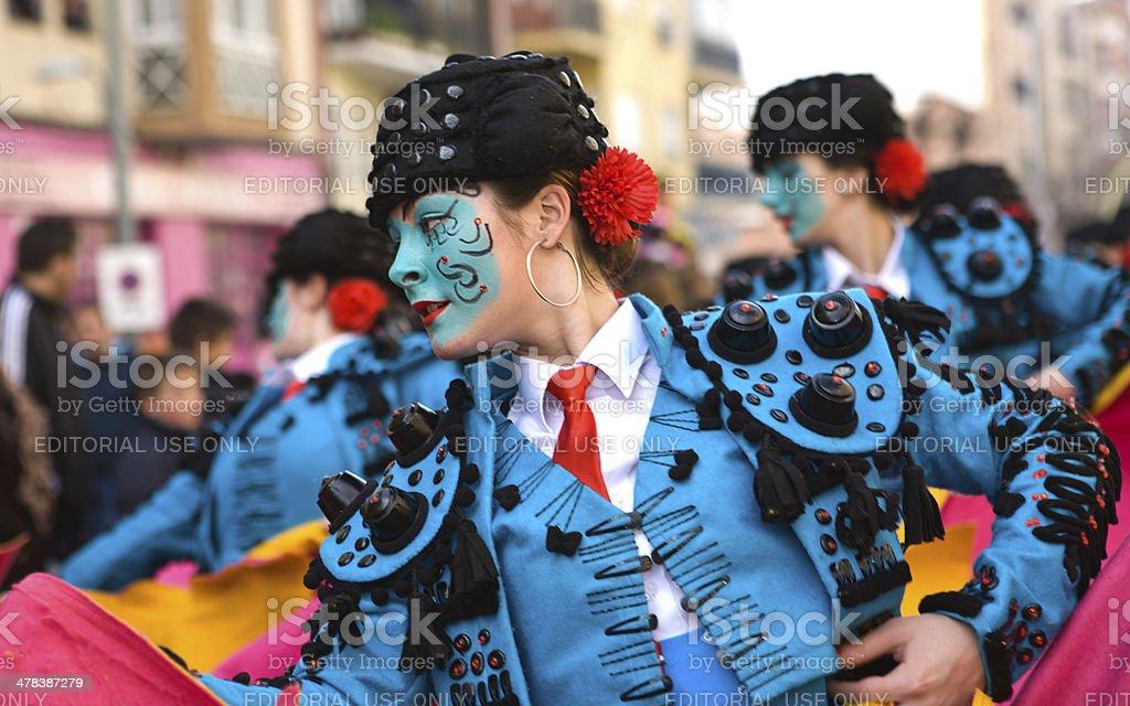 Bullfighter girl stock photo