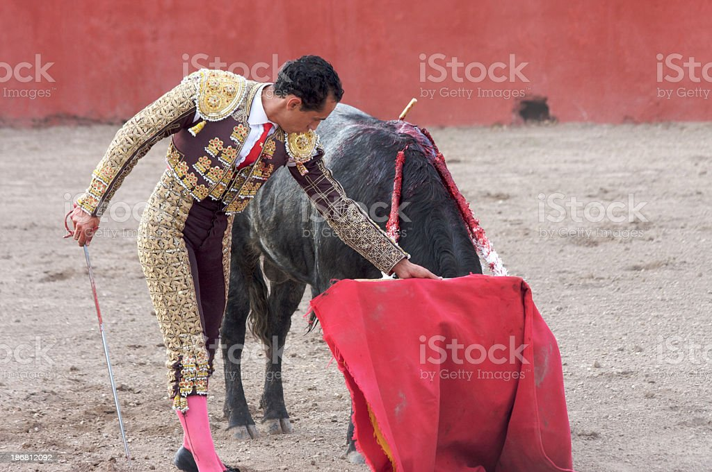 Bullfighter Matador in action royalty-free stock photo