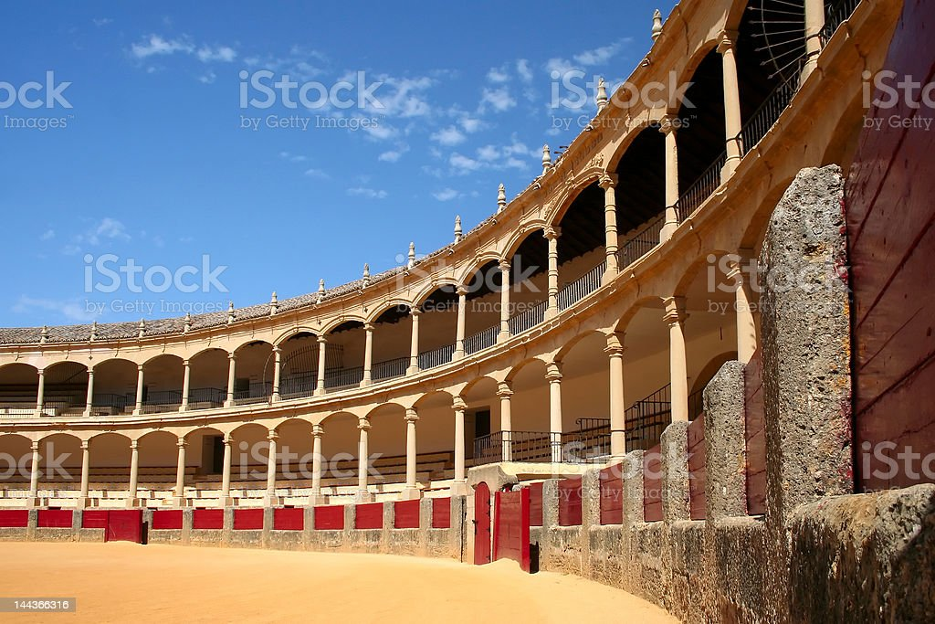 Bullfighting arena in Ronda stock photo