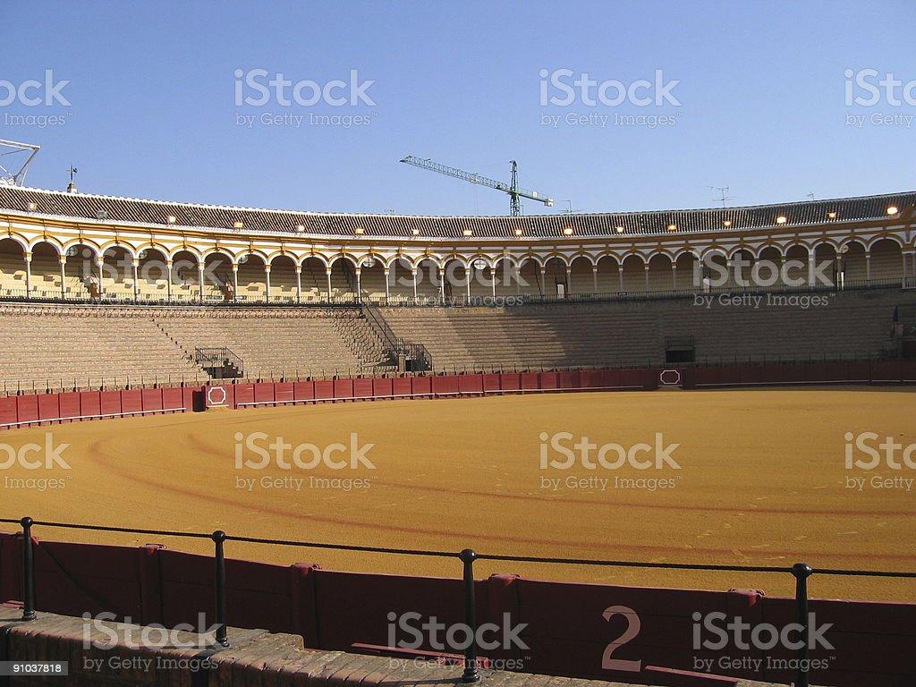 bullfighting arena royalty-free stock photo
